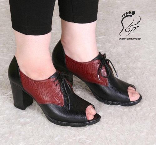 کفش زنانه تابستانی چرمی