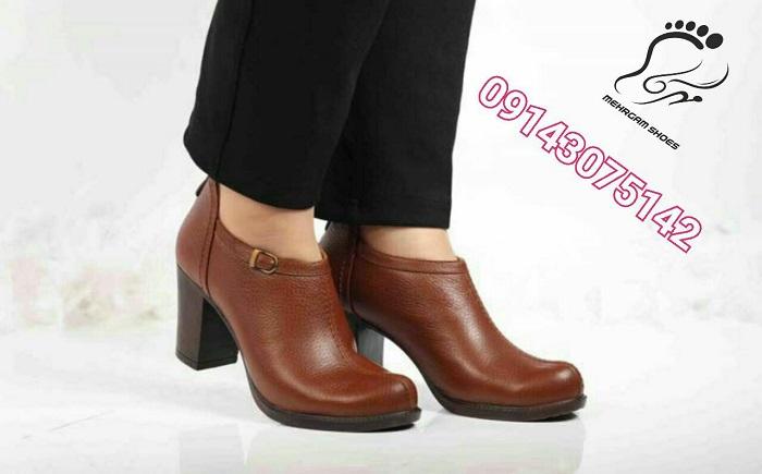 مدل کفش زنانه کارمندی چرم